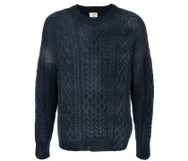 drop stitch cable knit sweater