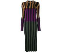 Gestreiftes Kleid in ColourBlockOptik