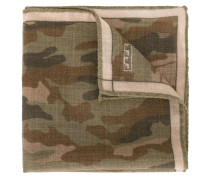 Wolleinstecktuch mit Camouflage-Print