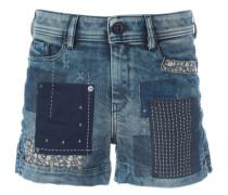 Jeans-Shorts im Patchwork-Stil