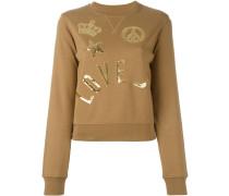 Sweatshirt mit Pailletten-Patches