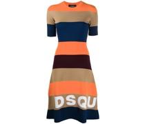 A-Linien-Kleid mit Logo-Print