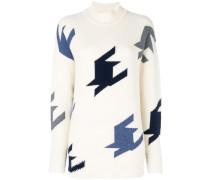 Kaschmir-Pullover mit geometrischem Muster
