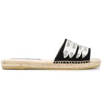 Espadrille-Sandalen mit Logo