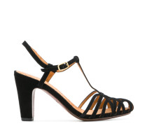 Mary Jane strappy heeled sandals
