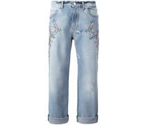 - Boyfriend-Jeans mit Stickerei - women
