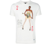 "T-Shirt mit ""Queen of Diamonds""-Print"