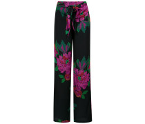 roses print wide leg trousers - Unavailable