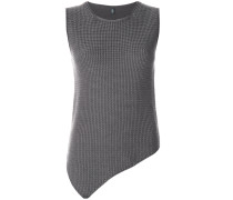 asymmetric knitted vest top