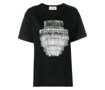 Oversized-T-Shirt mit Kronleuchter-Print