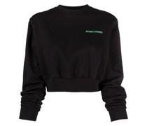 Cropped-Sweatshirt mit Logo-Print