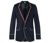 contrast piping blazer