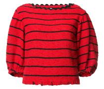 Gestreifter Pullover mit lockerem Schnitt