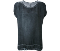 T-Shirt mit rundem Ausschnitt aus Seide