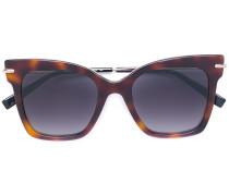 Oversized-Sonnenbrille in Schildpatt-Optik