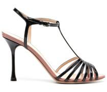 Zweifarbige Sandalen