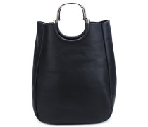 Handtasche mit metallischen Henkeln