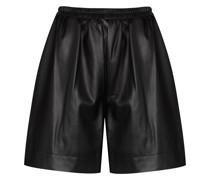Shorts aus veganem Leder