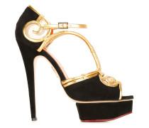 Sandalen mit Ratan-Details