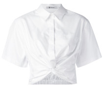 Cropped-Hemd mit Knotendetail