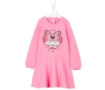 Pulloverkleid mit Tiger-Stickerei