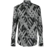 Hemd mit Print - men - Baumwolle/Elastan - 43