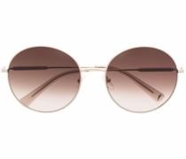 gradient-effect oversized sunglasses