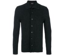 high neck button cardigan