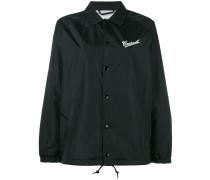 - drawstring hem logo jacket - women