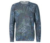 Wollpullover mit abstraktem Print