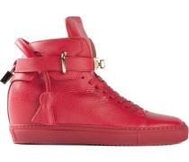 High-Top-Sneakers mit goldfarbenen Details