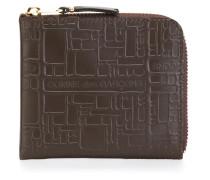 Portemonnaie mit geometrischer Prägung - unisex