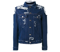 Jeansjacke im Distressed-Look - men - Baumwolle