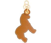 textured lion key ring