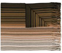 Gestreifter Schal mit Farbverlauf