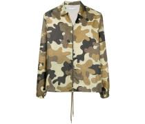 Leichte Jacke mit Camouflage-Print