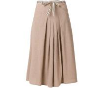 ribbon detail pleated skirt