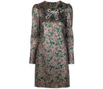 Brokat-Kleid mit Schleife