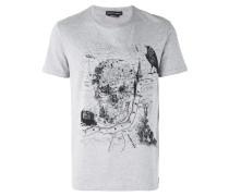 T-Shirt mit Totenkopf-Print - men - Baumwolle