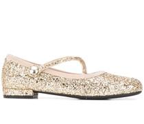 glitter ballerina shoes