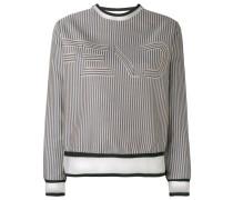 - Sweatshirt mit semi-transparentem Einsatz