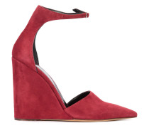 - ankle strap pointed pumps - women