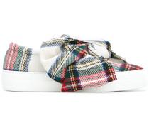 'Tartan Bow' Sneakers