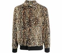 Hemdjacke mit Geparden-Print