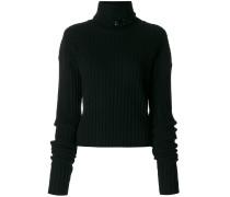 embellished turtle neck sweater