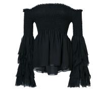 flared bardot blouse