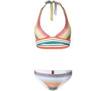zig-zag pattern bikinis