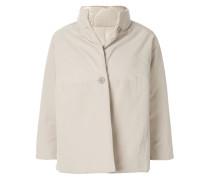 Cropped-Jacke mit Dreiviertelärmeln