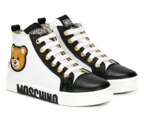 High-Top-Sneakers mit Teddy-Bär-Print