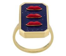 Ring mit Lippen-Applikation